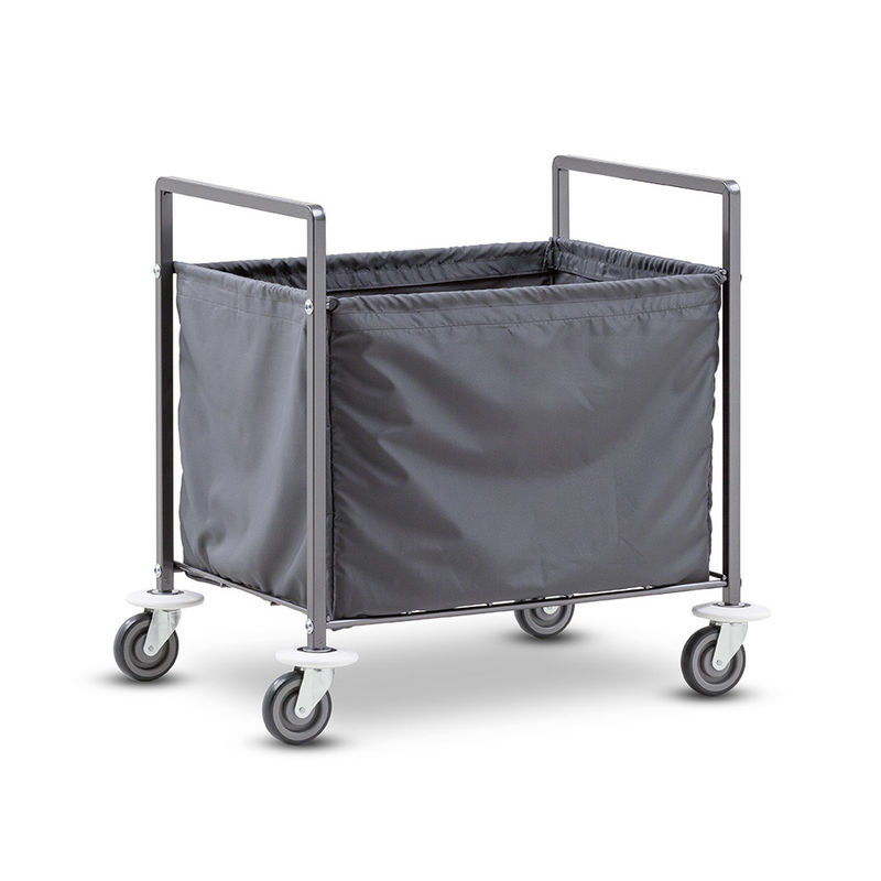 Square Metal Hotel Style Luggage Cart / Knock Down Chrome Laundry Truck Cart